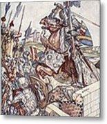 Bayard Defends The Bridge, Illustration Metal Print