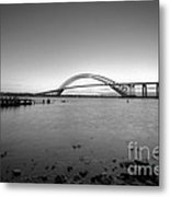 Bayonne Bridge Long Exposure Bw Metal Print