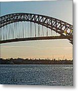 Bayonne Bridge Panoram Sunset Metal Print