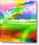 Beach Abstract Metal Print
