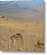 Beach And Rippled Water. Metal Print