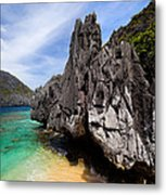 Beach And Rocks  Metal Print
