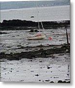 Beach At Culross Scotland Metal Print