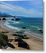 Beach At Ecola State Park Metal Print