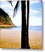 Beach At Ipanema - 2 Metal Print