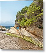 Beach At Montana De Oro Metal Print by Artist and Photographer Laura Wrede