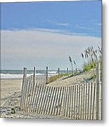 Beach At Outer Banks Metal Print