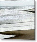 Beach At Pea Island Metal Print
