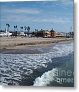 Beach At Santa Cruz Metal Print