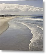 Beach At Santa Monica Metal Print