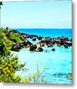 Beach At St. George Bermuda Metal Print