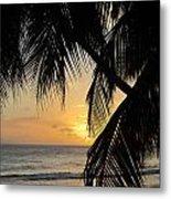 Beach At Sunset 1 Metal Print
