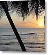 Beach At Sunset 2 Metal Print
