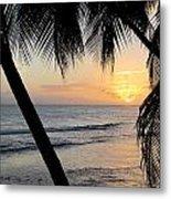 Beach At Sunset 5 Metal Print