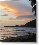 Beach At Sunset 6 Metal Print