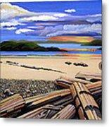 Beach At Sunset Metal Print