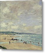 Beach At Trouville Metal Print