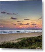 Beach At Twilight Metal Print
