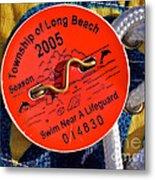 Beach Badge 2005 Metal Print