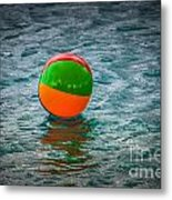 Beach Ball Float Metal Print