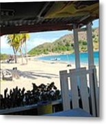 Beach Bar In January Metal Print