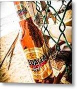 Beach Beer Metal Print