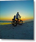 Beach Biking Metal Print