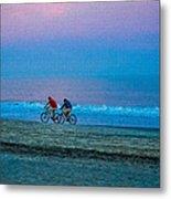Beach Biking  Metal Print