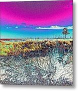 Beach Blindness Metal Print