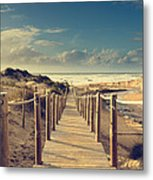 Beach Boardwalk Metal Print
