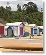 Beach Box Boat Metal Print by Rachael Curry