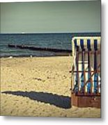 Beach Chair Metal Print