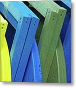 Beach Chair Palette 2 Metal Print