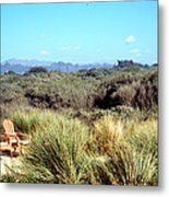 Beach Chairs With A View Metal Print