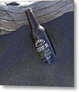 Beach Cider Metal Print by David Yack