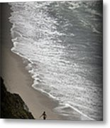 Beach Comber Metal Print