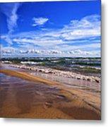 Beach Combing Metal Print