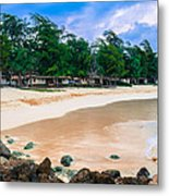 Beach Cottages Bellows Metal Print