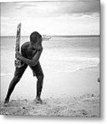 Beach Cricket Metal Print