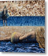 Beach Day Metal Print by Ned Shuchter