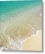 Golden Sand Beach Metal Print