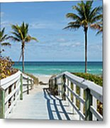 Beach Entrance, Florida Metal Print