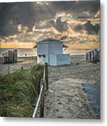 Beach Entrance To Old Glory - Hdr Style Metal Print