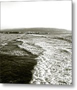 Beach Far From The Buildings Metal Print