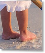 Beach Feet  Metal Print