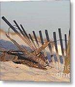 Beach Fencing Metal Print