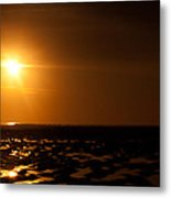 Beach From Low Angle Metal Print