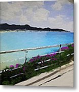 Beach Front View Metal Print