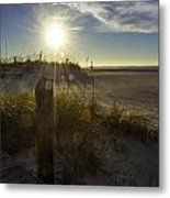 Beach Glare Metal Print