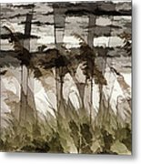 Beach Grasses Metal Print